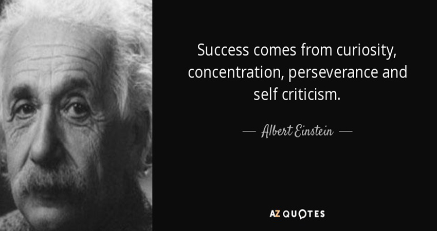 Success comes from self-development